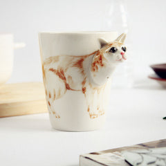 Handmade cute coffee milk mug animal deer 3d Funny Birthday Gift Gift for Her Holiday Gift Christmas Gift