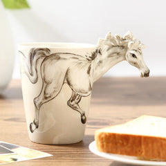 Handmade cute coffee milk mug animal Seahorse 3d Funny Birthday Gift Gift for Her Holiday Gift Christmas Gift
