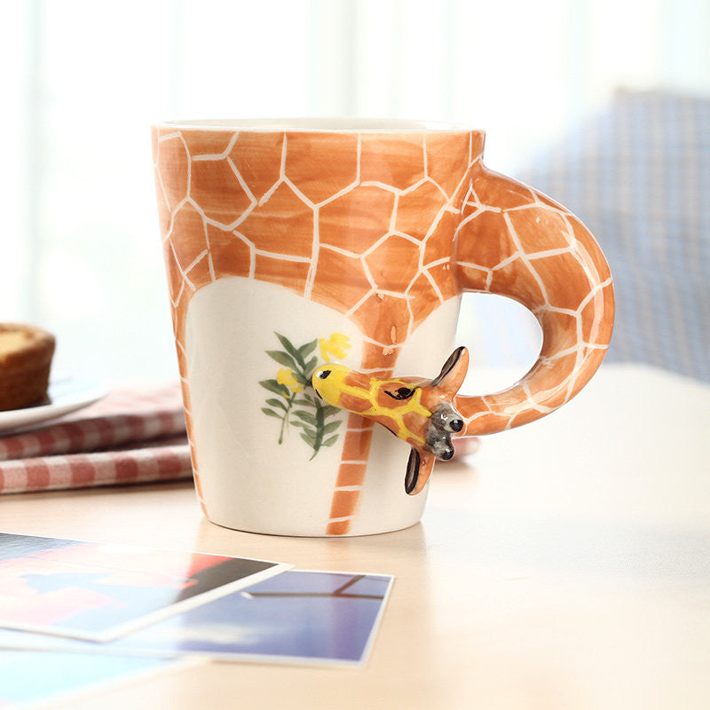 Handmade cute coffee milk mug animal giraffe 3d funny birthday handmade cute coffee milk mug animal giraffe 3d funny birthday gift gift for her holiday gift christmas gift negle Choice Image