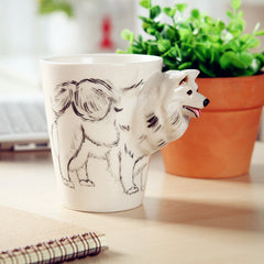 Handmade cute coffee milk mug animal Chihuahua 3d Funny Birthday Gift Gift for Her Holiday Gift Christmas Gift
