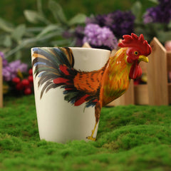 Handmade cute coffee milk mug animal Rooster 3d Funny Birthday Gift Gift for Her Holiday Gift Christmas Gift