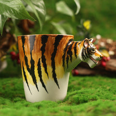 Handmade cute coffee milk mug animal Tiger 3d Funny Birthday Gift Gift for Her Holiday Gift Christmas Gift