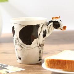 Handmade cute coffee milk mug animal Striped cat 3d Funny Birthday Gift Gift for Her Holiday Gift Christmas Gift