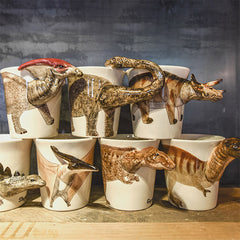 Handmade cute coffee milk mug animal Dinosaur Tyrannosaurus 3d Funny Birthday Gift Gift for kids Holiday Gift Christmas Gift