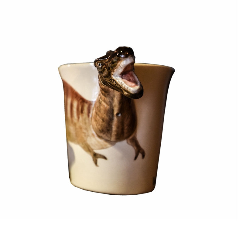 Handmade cute coffee milk mug animal Dinosaur Stegosaurus 3d Funny Birthday Gift Gift for kids Holiday Gift Christmas Gift