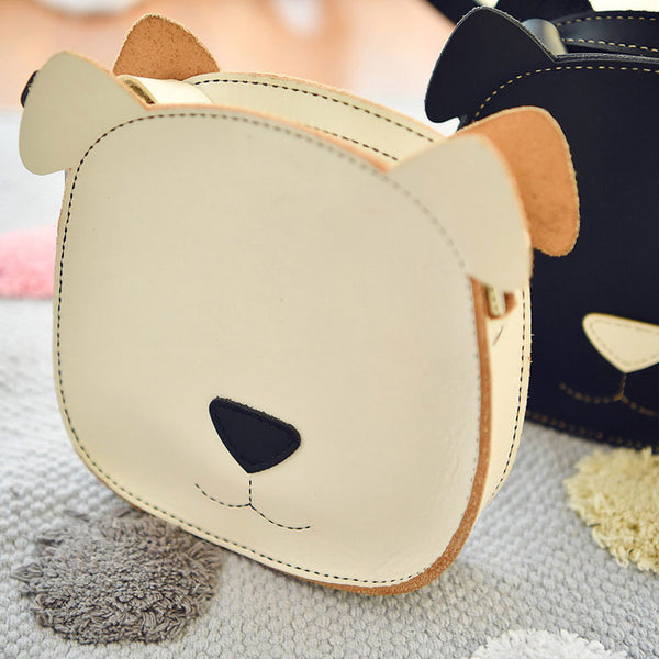 Handmade Leather Cute Dog Round Bag Shoulder Bag Personalized Monogrammed Gift Custom Crossbody Bag Purse Shoulder Bag Purse