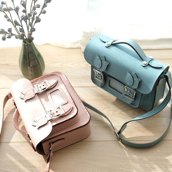 Handmade Leather Cute Shoulder Bag Satchel Purse Personalized Monogrammed Gift Custom Crossbody Bag Purse Shoulder Bag Purse