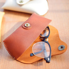 Handmade Leather Cute Women Glasses Box Case Personalized Monogrammed Gift Custom Glasses Case Box Wallet