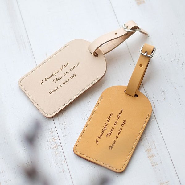 Handmade Leather Luggage Tag Personalized Monogrammed Gift Custom Women Wallet Graduation Gift