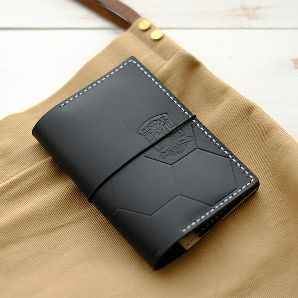 Handmade Leather Soccer Bifold Cool Men Long Wallet PERSONALIZED MONOGRAMMED GIFT CUSTOM Travel Wallet Passport Wallet