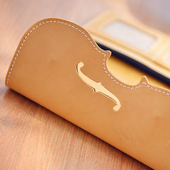 Handmade Leather Women Long Wallet Cute Phone VIOLIN Bifold PERSONALIZED MONOGRAMMED GIFT CUSTOM Phone Wallet long Wallet