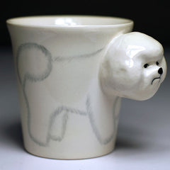 Handmade cute coffee milk mug animals Bichon Frise 3d Funny Birthday Gift Gift for Her Holiday Gift Christmas Gift
