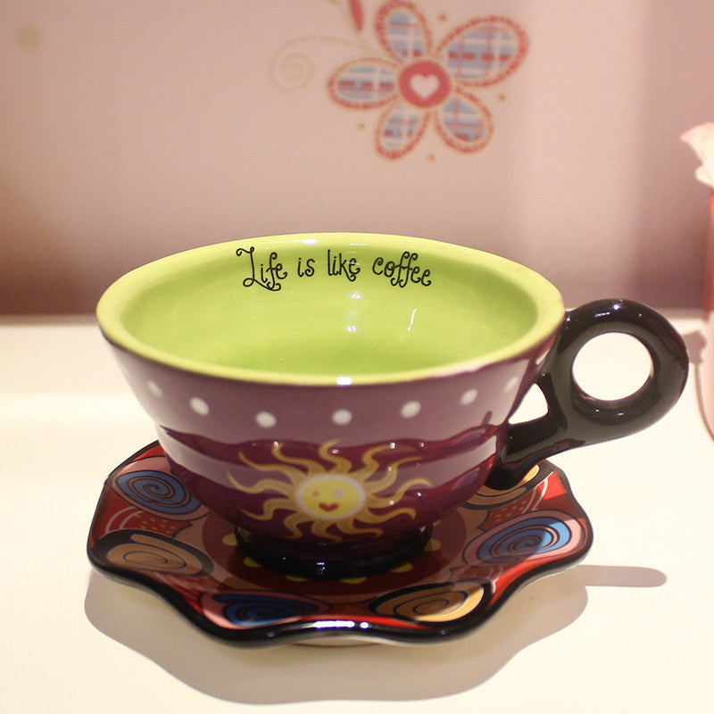 Handmade Cute Cool Oversized Tea Cup Tall Pottery Funny Coffee Milk
