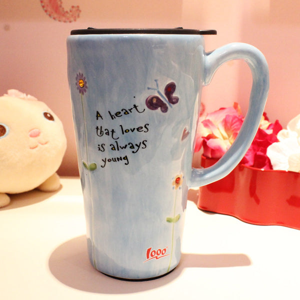 Handmade cute cool oversized quotes tall pottery funny ...