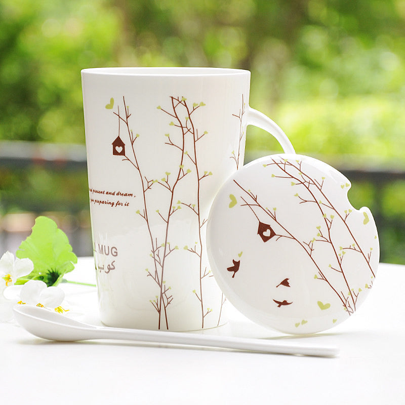 Handmade cute cool Bone china oversized tea cup tall pottery funny coffee milk mug painted big large coffee cup ceramic vintage