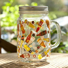 Handmade cute cool oversized tea cup tall glass funny coffee milk mug applique big large coffee cup unique gift online