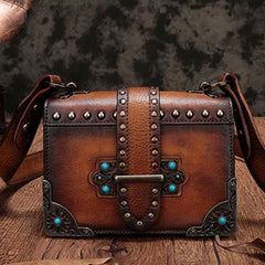 Vintage Leather Clutch Bags Purse Shoulder Crossbody Bags