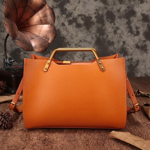 Vintage Leather Purse Handmade Handbags Shoulder Crossbody Bags