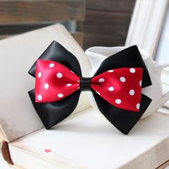 Minnie Mouse Hair Bow, Minnie Mouse Hair Clips Disney Bow, Mickey Mouse Bow