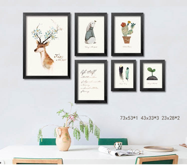 Animal pictures wall decor framed