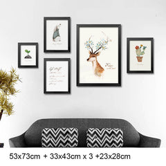Nursery Wall Art Framed Poster Bud Framed Art Animal Decor frame print gallery wall frame set home decor