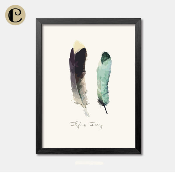 Nursery Wall Art Framed Poster Feather Framed Art Animal Decor frame print gallery wall frame set home decor