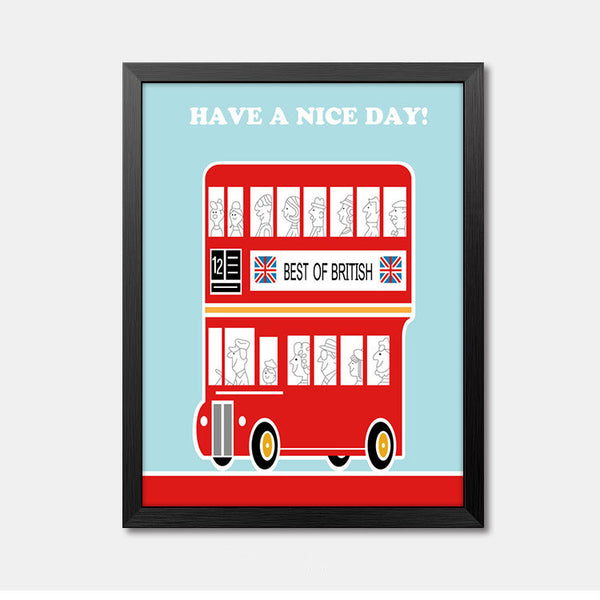 Nursery Wall Art Framed Poster Have a nice day Framed Art Animal Decor frame print gallery wall frame set home decor