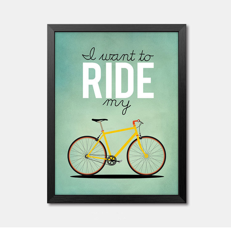 Nursery Wall Art Framed Poster Ride Framed Art Animal Decor frame print gallery wall frame set home decor