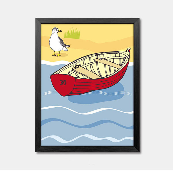 Nursery Wall Art Framed Poster boat Framed Art Animal Decor frame print gallery wall frame set home decor
