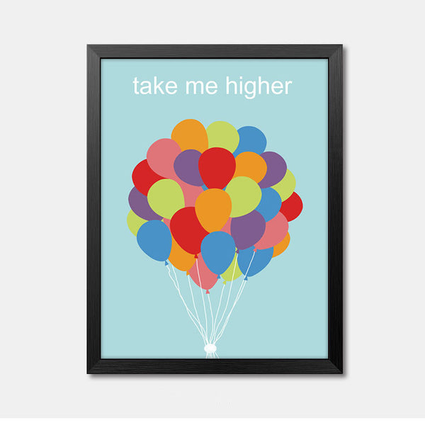 Nursery Wall Art Framed Poster take me higher Framed Art Animal Decor frame print gallery wall frame set home decor