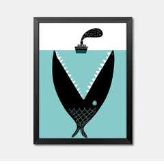 Nursery Wall Art Framed Poster whale Framed Art Animal Decor frame print gallery wall frame set home decor