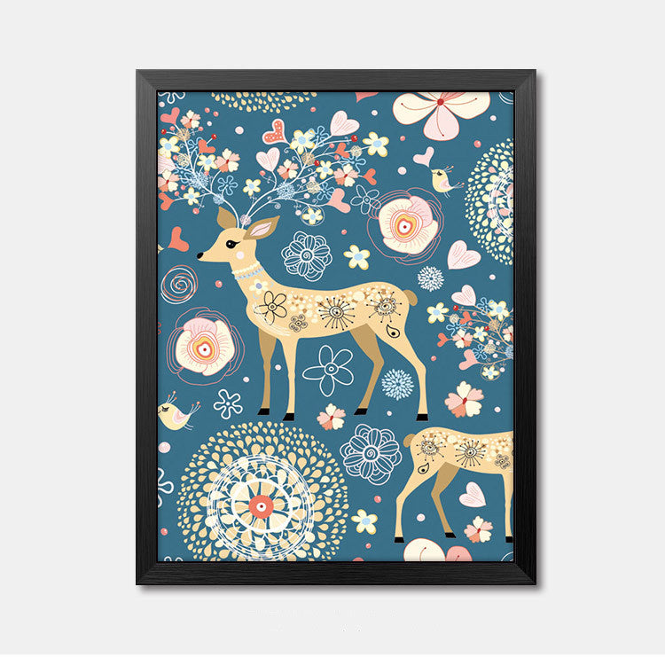 Nursery Wall Art Framed Poster deer Framed Art Animal Decor frame print gallery wall frame set home decor