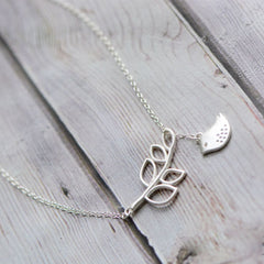 Necklace Silver Branches Peace Dove Bird Sparrow Charm Chokers Gift Jewelry Accessories Women