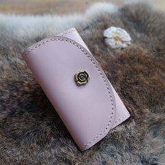 Handmade leather vintage women short keys wallet wallet purse wallet