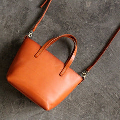 Handmade leather vintage women tote bag shoulder bag crossbody bag