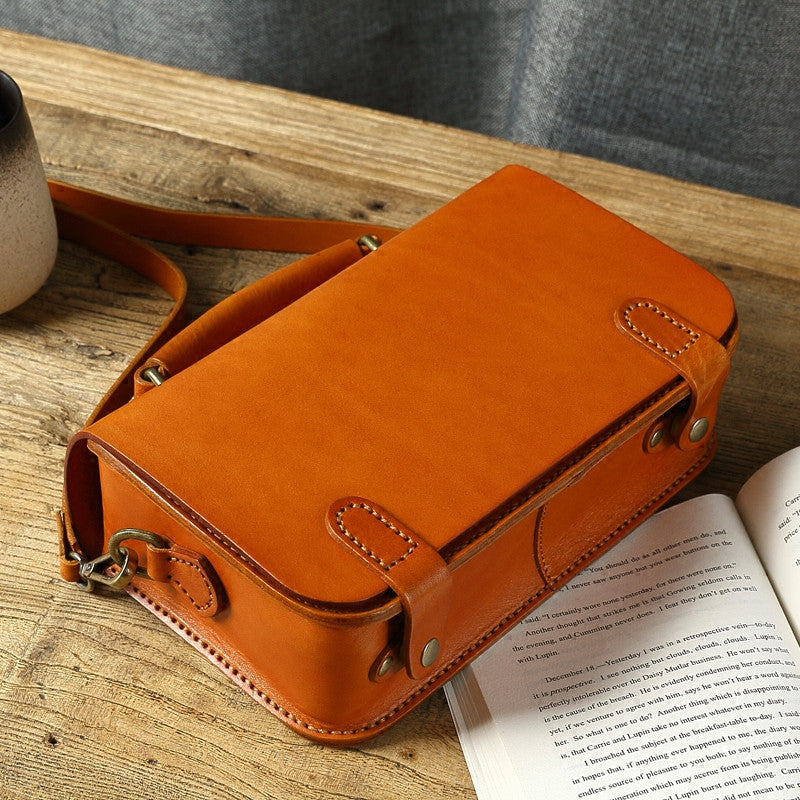Handmade leather purse women Satchel bag shoulder bag crossbody bag