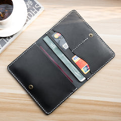 Handmade leather vintage Men PERSONALIZED MONOGRAMMED GIFT CUSTOM short wallet clutch passport purse wallet