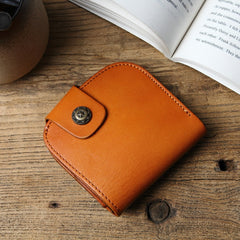Handmade leather vintage women short wallet wallet purse wallet
