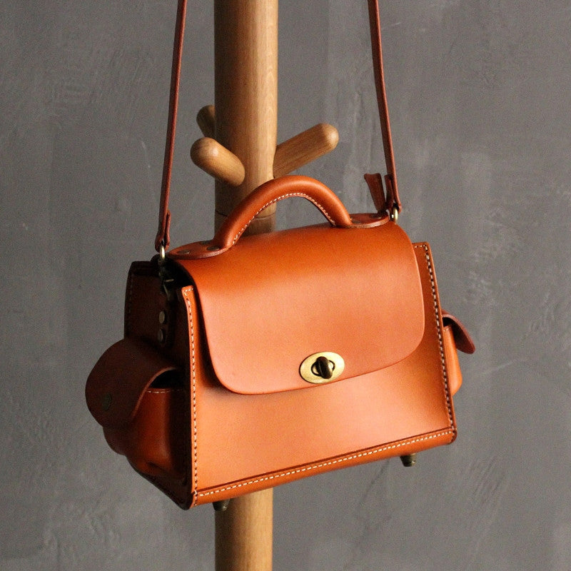 Handmade leather vintage women purse satchel bag shoulder bag crossbody bag