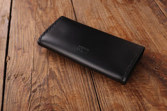 Handmade leather vintage envelop women long wallet clutch phone purse wallet