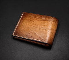 Handmade Leather Short Tooled EVANGELION EVA Wallet Personalized Monogrammed Gift Custom Cool Leather Wallet Slim Wallet for Men