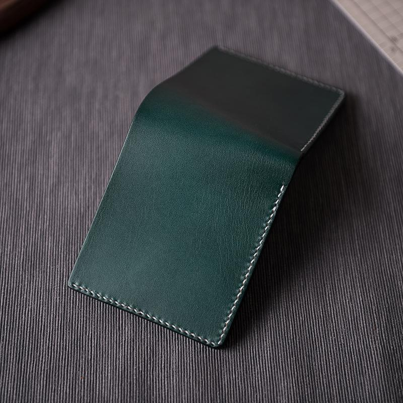 Handmade Leather Mens PERSONALIZED MONOGRAMMED GIFT CUSTOM COOL Slim Leather Wallet Men Small Wallets Bifold for Men Women