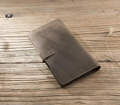 Handmade Leather Mens Travel Wallet PERSONALIZED MONOGRAMMED GIFT CUSTOM Passport Leather Wallet Long Phone Wallets for Men