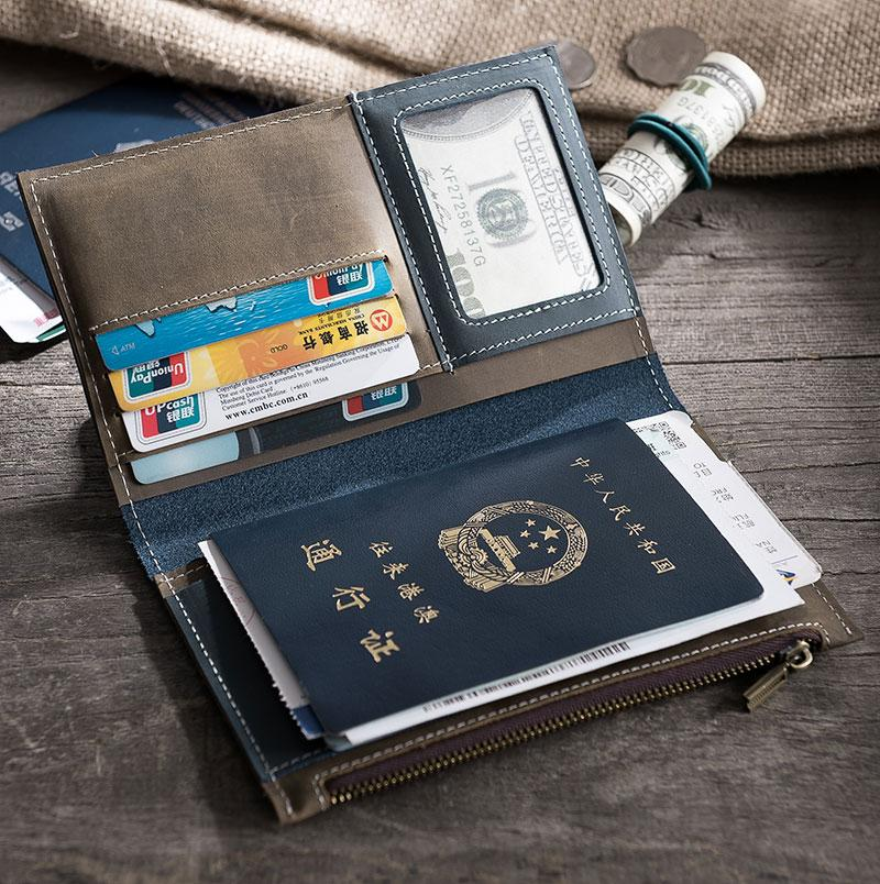 94b7482c920 Handmade Leather Mens Travel Wallet PERSONALIZED MONOGRAMMED GIFT ...