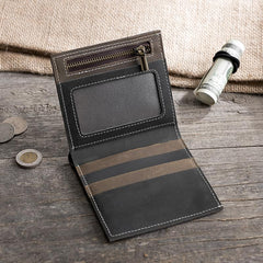 Handmade Leather Mens PERSONALIZED MONOGRAMMED GIFT CUSTOM COOL Slim Leather Wallet Men Small Wallets Bifold for Men