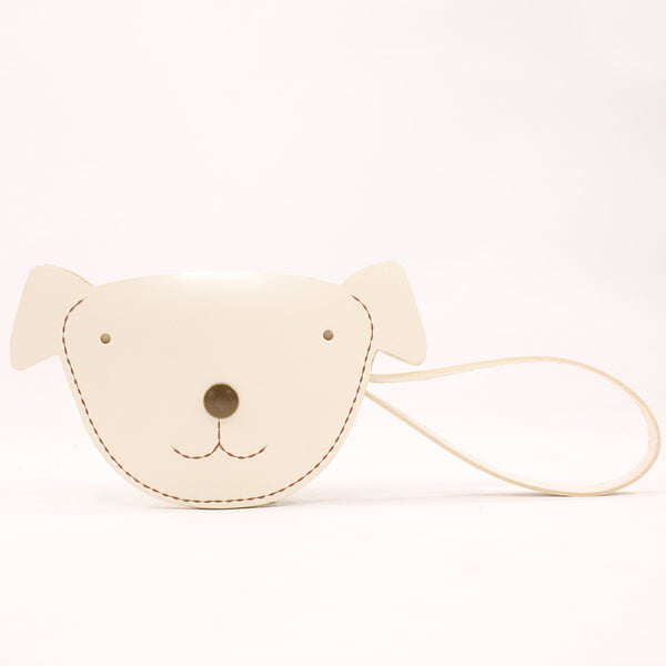 HANDMADE LEATHER CUTE Women Dog Card Change Holder Clutch PERSONALIZED MONOGRAMMED GIFT CUSTOM Wallet Card Coin Holder