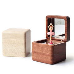 Handmade Wooden Ballet Girls Music Box Personalized Monogrammed Gift Custom Christmas Valentines Wedding Gift Birthday Gift Baby Gift