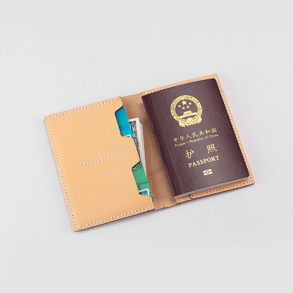 Handmade leather Cute Camel Women Passport Personalized Monogrammed Gift Custom Long Wallet Travel Purse Wallet For Girl Women