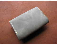 Handmade leather vintage women short wallet clutch coin change card purse wallet
