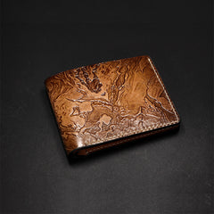 Handmade Leather Short Tooled League of Legends LOL the Chain Warden Thresh  Wallet Personalized Monogrammed Gift Custom Cool Leather Wallet Slim Wallet for Men
